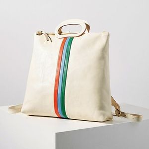 Clare Vivier Marcelle White Leather Backpack
